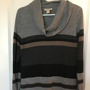 Soft Striped Sweater Dress